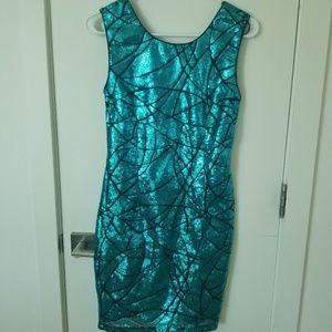 Sequin Body Con Dress